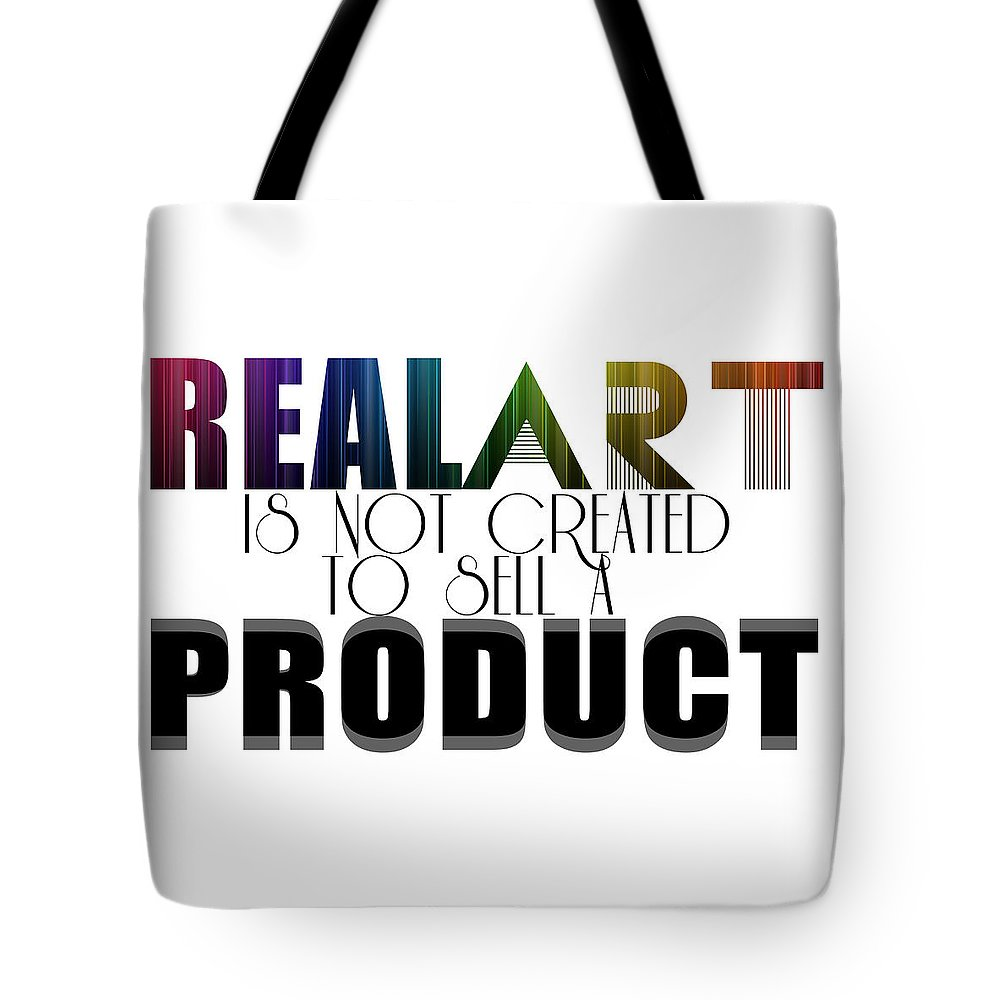 Artsy Tote Bag featuring the digital art Real Art by Priscilla Vogelbacher