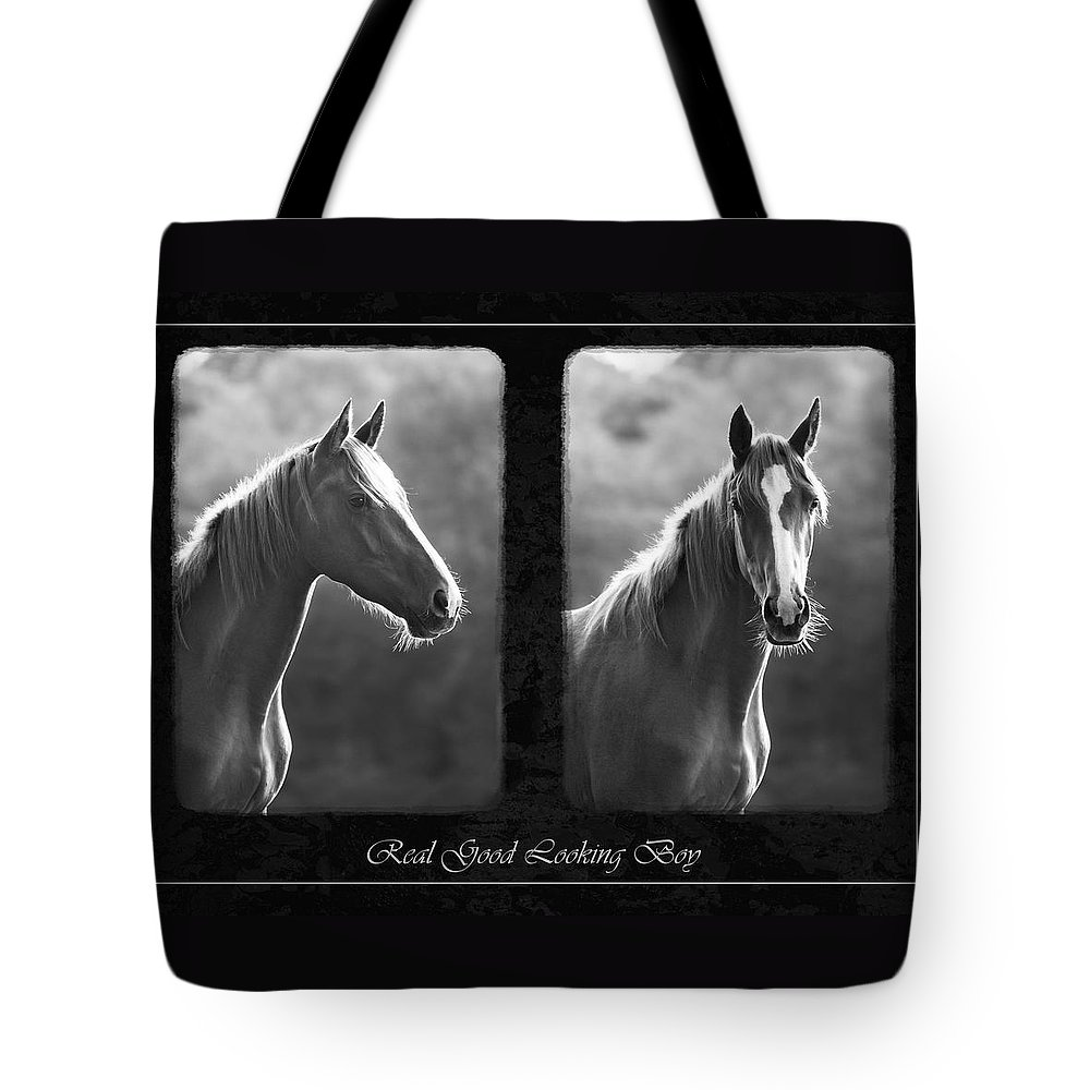 Horse Tote Bag featuring the photograph Real Good Looking Boy by Hazy Apple