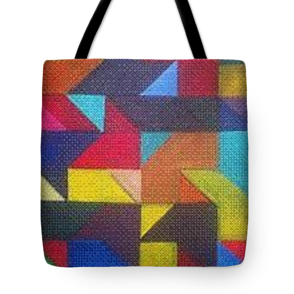 Digitalize Image Tote Bag featuring the digital art Real Sharp by Andrew Johnson