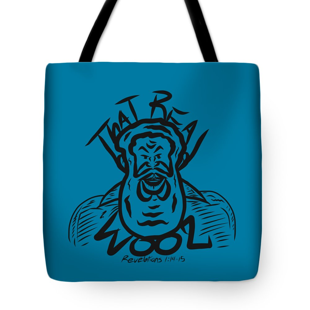 Tote Bag featuring the digital art Real Wool Blue by Robert Watson