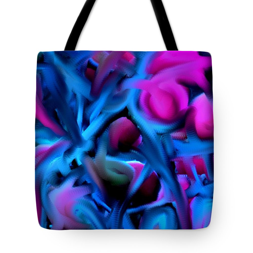 Abstract Tote Bag featuring the digital art Reality Altered by Ian MacDonald
