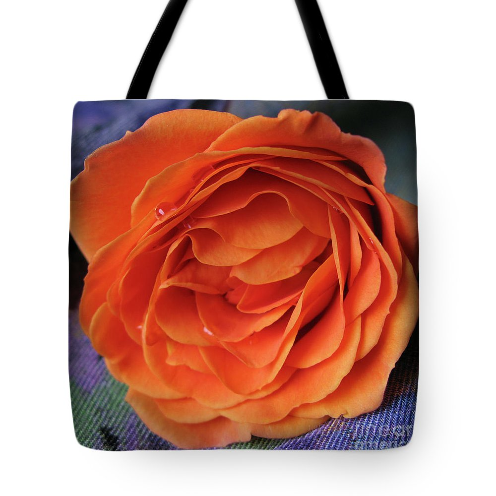 Rose Tote Bag featuring the photograph Really Orange Rose by Ann Horn