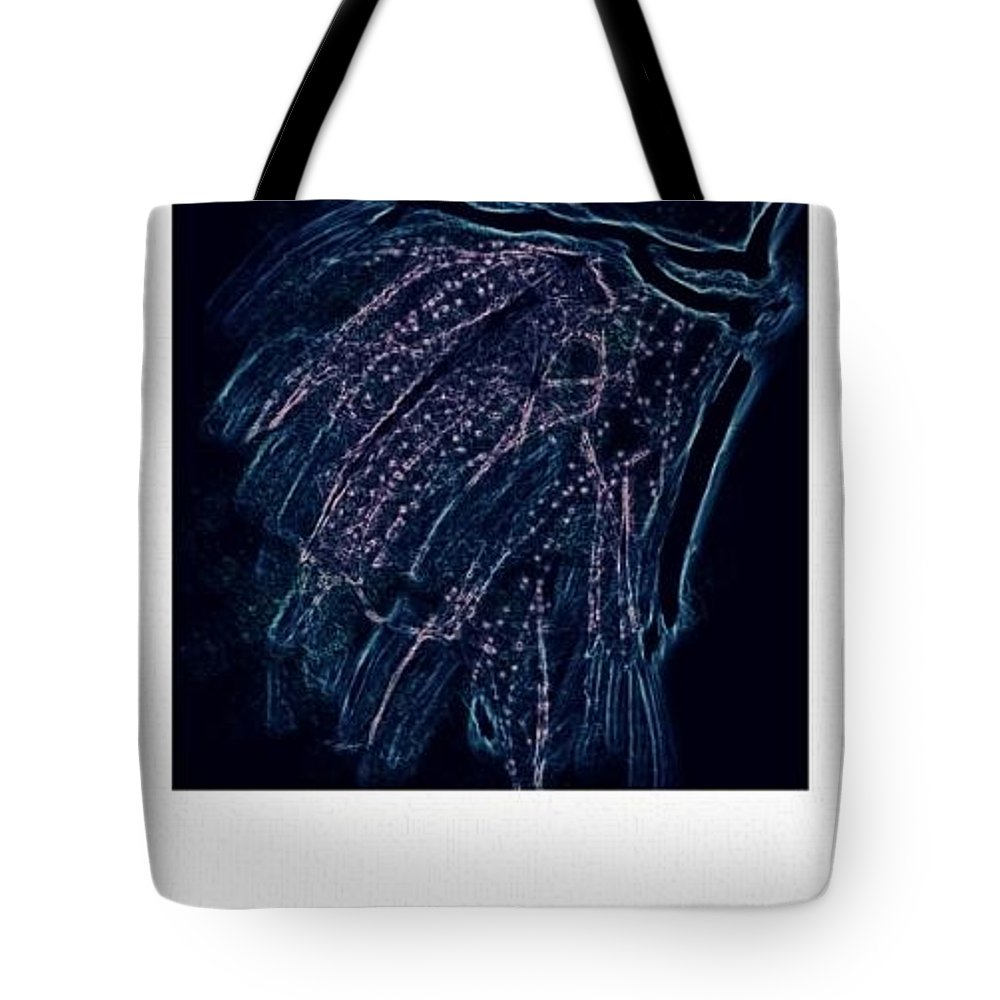 Illustration Tote Bag featuring the drawing Reanimated by Kerri Thompson