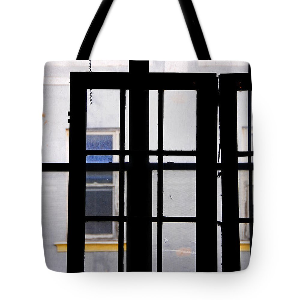 Skip Hunt Tote Bag featuring the photograph Rear Window 1 by Skip Hunt