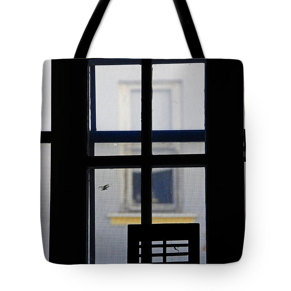 Architecture Tote Bag featuring the photograph Rear Window 2 by Skip Hunt