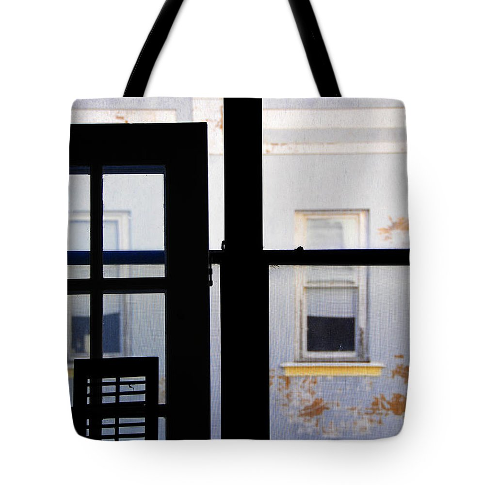 Architecture Tote Bag featuring the photograph Rear Window 3 by Skip Hunt