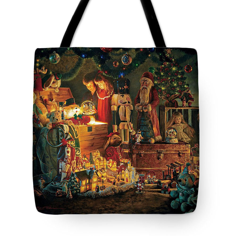 Santa Claus Tote Bag featuring the painting Reason for the Season by Greg Olsen