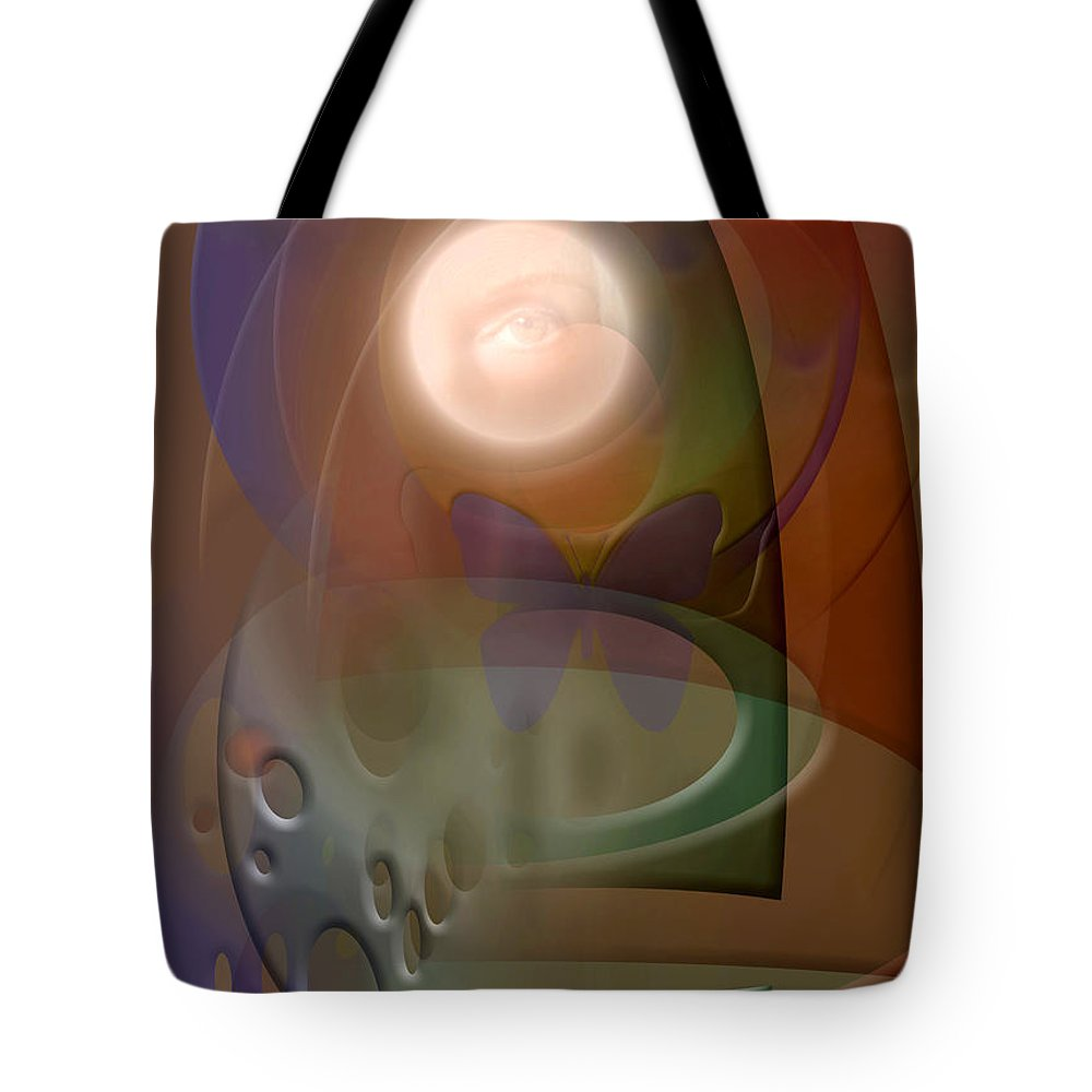 Abstract Tote Bag featuring the digital art Rebirth by Stephen Lucas