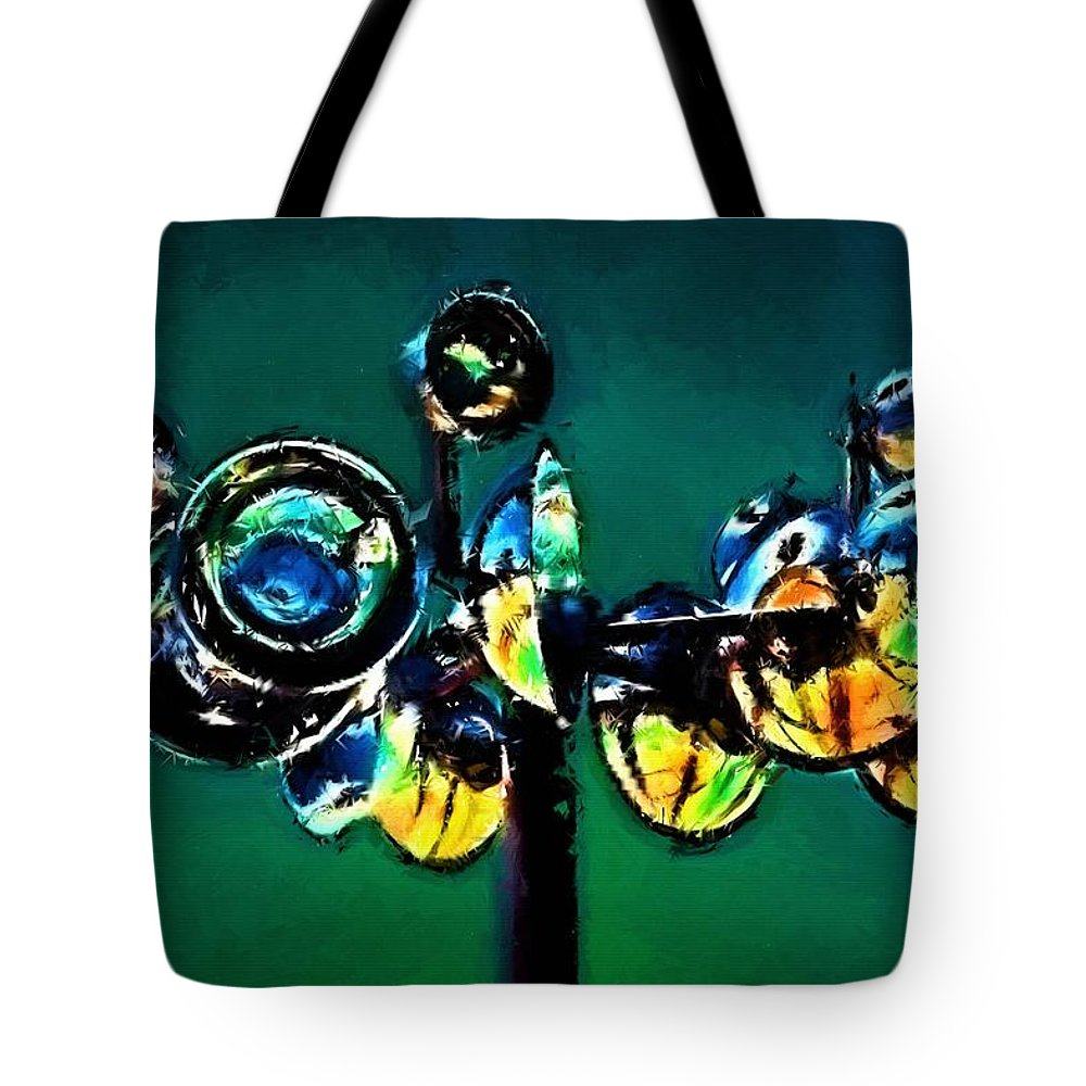 Abstract Tote Bag featuring the painting Reckless Abandon by Jim Buchanan