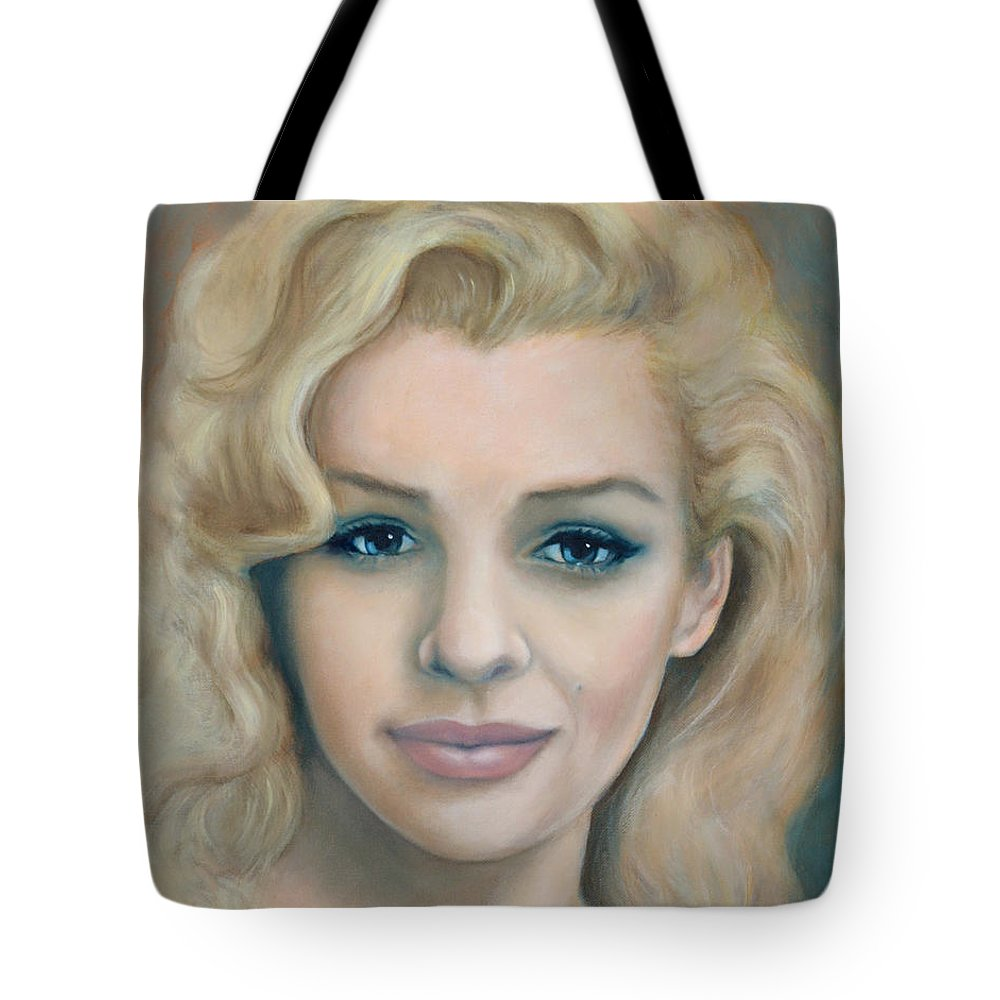 Portrait Tote Bag featuring the painting Reclaimed Innocence by Tom Morgan