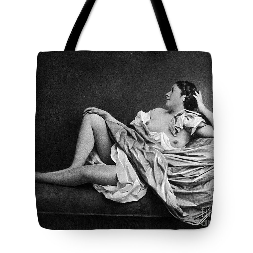 1859 Tote Bag featuring the photograph Reclining Nude, 1859 by Granger