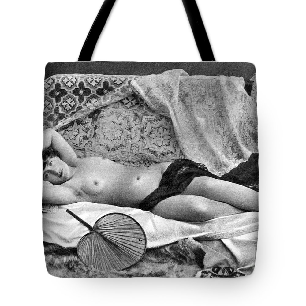 Tote Bag featuring the painting Reclining Nude, C1890 by Granger