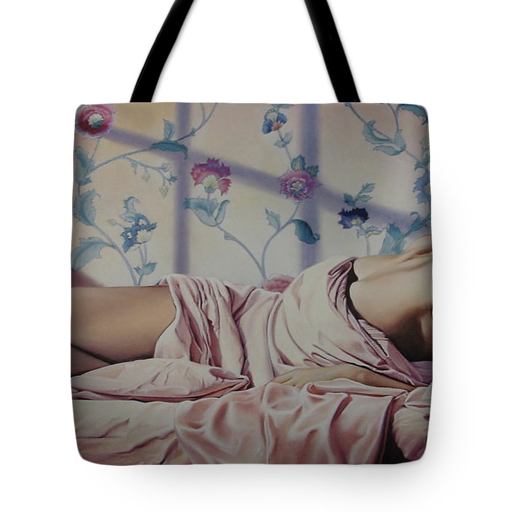 Nude Tote Bag featuring the painting Reclining Nude by Patrick Anthony Pierson