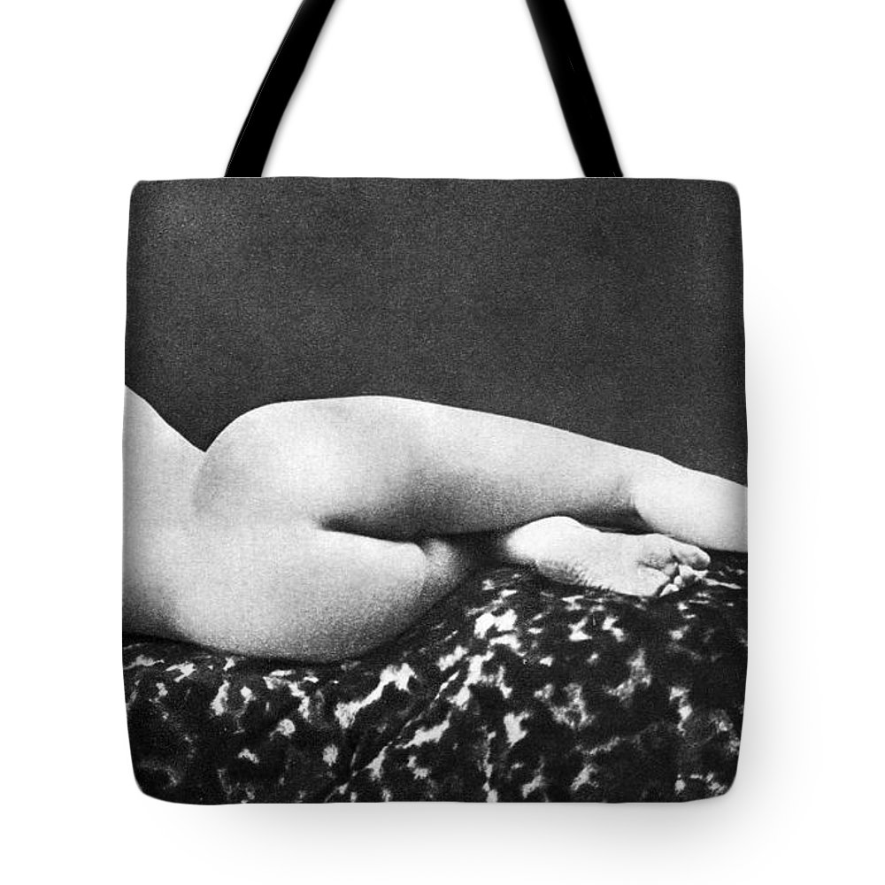 Tote Bag featuring the painting Reclining Nude: Rear View by Granger