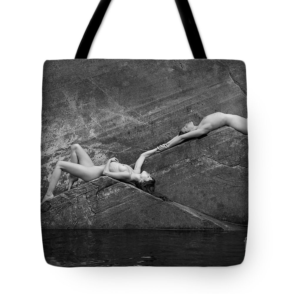 America Tote Bag featuring the photograph Reclining Nudes by Inge Johnsson