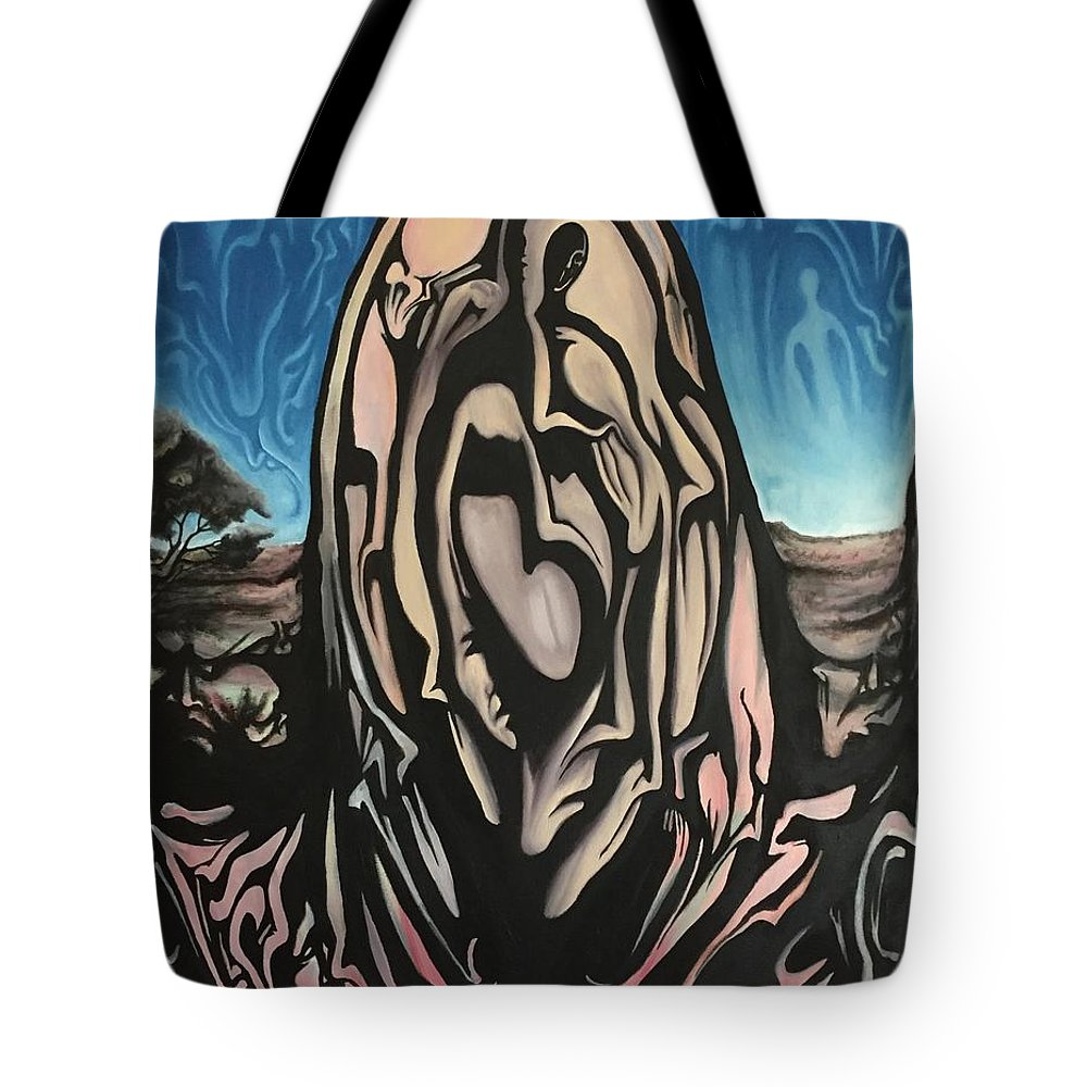 Tmad Tote Bag featuring the painting Recluse by Michael TMAD Finney