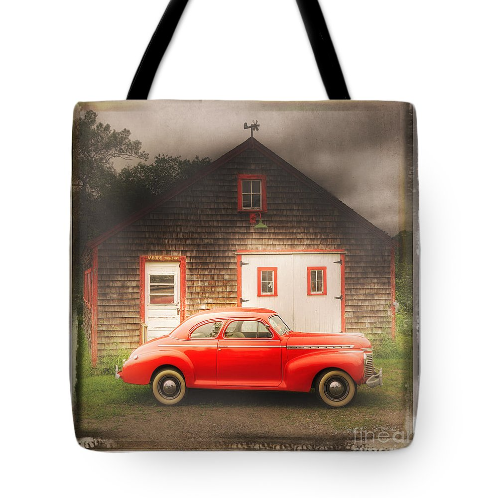 Auto Tote Bag featuring the photograph Red 41 Coupe by Craig J Satterlee