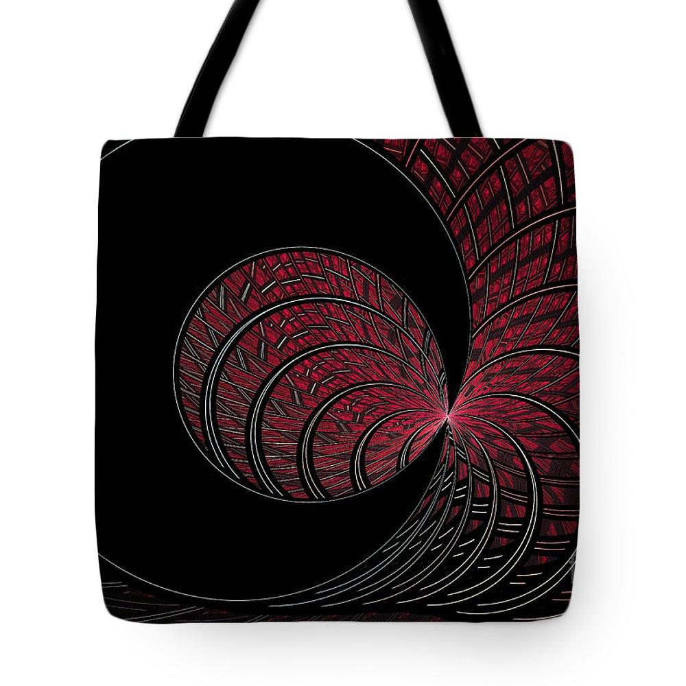 Digital Tote Bag featuring the digital art Red-addz by Deborah Benoit
