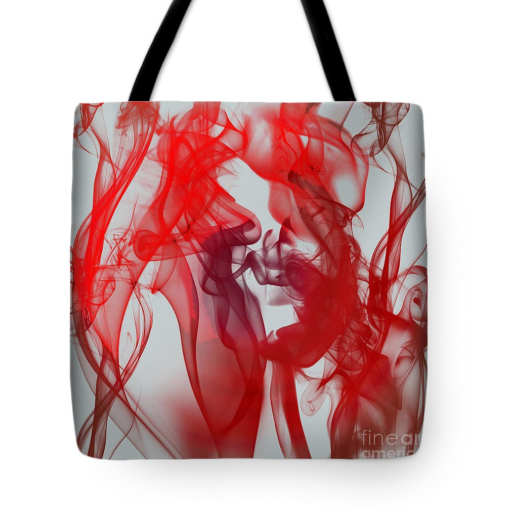 Clay Tote Bag featuring the digital art Red Alert by Clayton Bruster