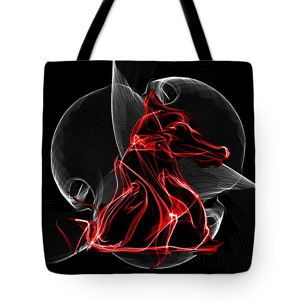Red And Black Knight Inside The Vortex Of The Game Tote Bag