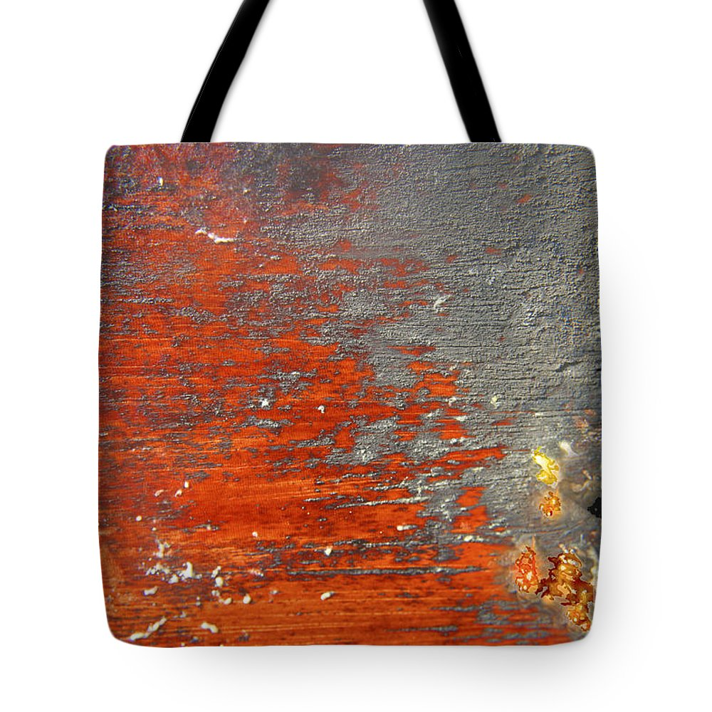 Red Tote Bag featuring the photograph Red And Grey Abstract by Hana Shalom