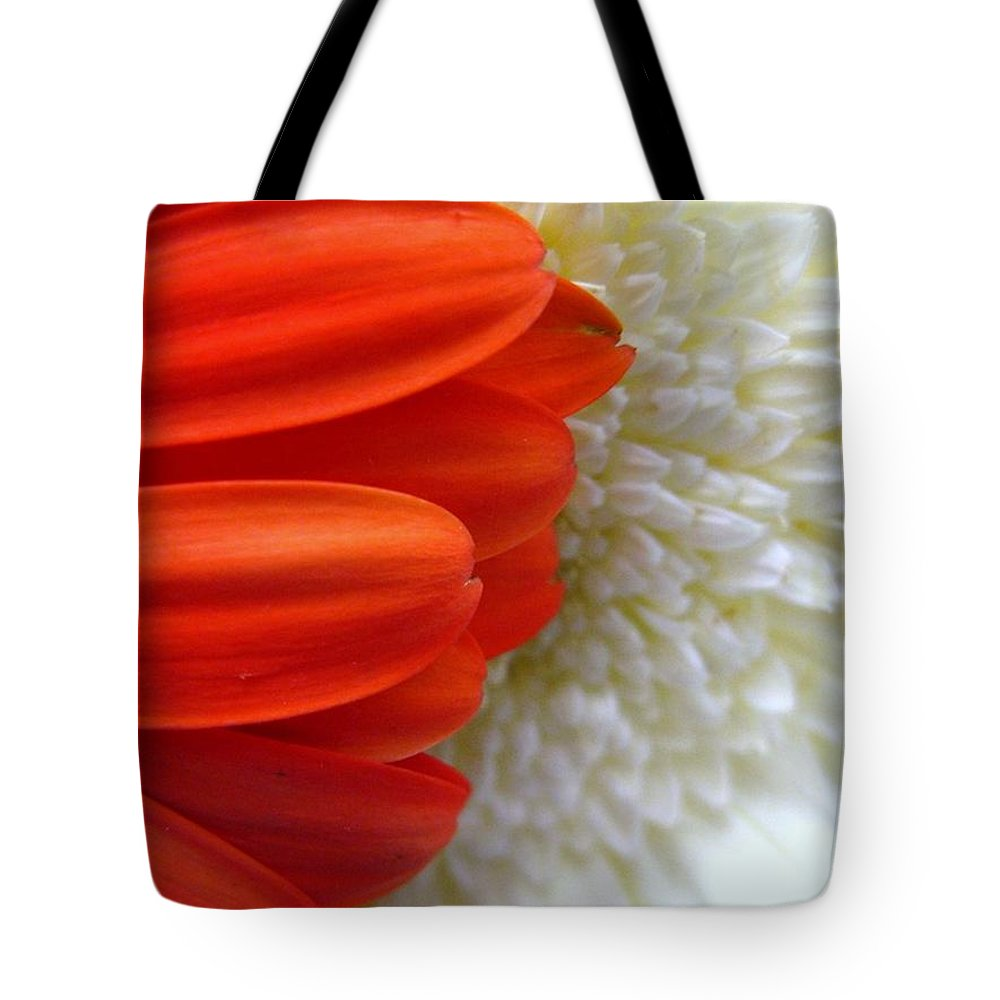 Flowers Tote Bag featuring the photograph Red And White by Rhonda Barrett
