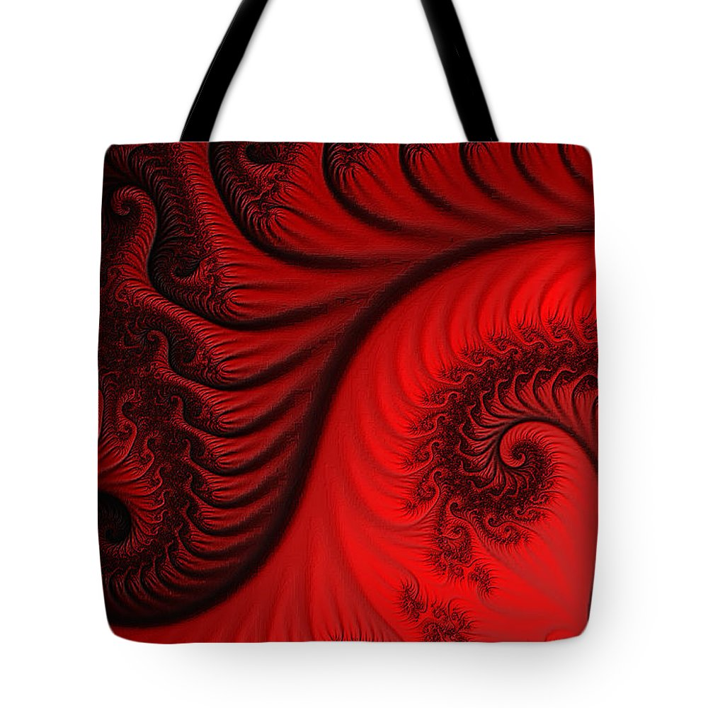Clay Tote Bag featuring the digital art Red Ants by Clayton Bruster