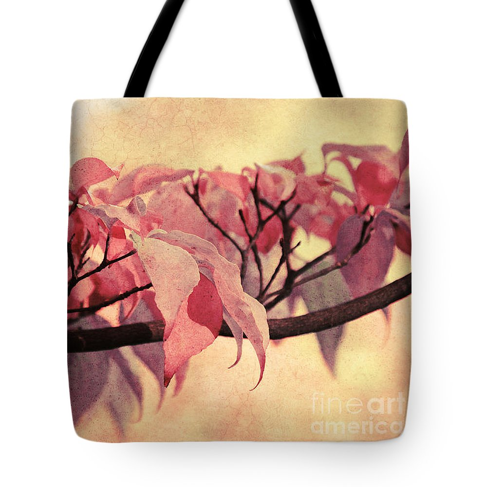 Autumn Tote Bag featuring the photograph Red Autumn Day by Angela Doelling AD DESIGN Photo and PhotoArt