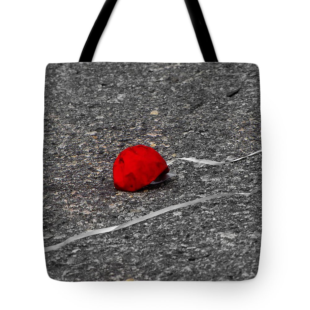 Balloon Tote Bag featuring the photograph Red Balloon IIi by Gary Adkins