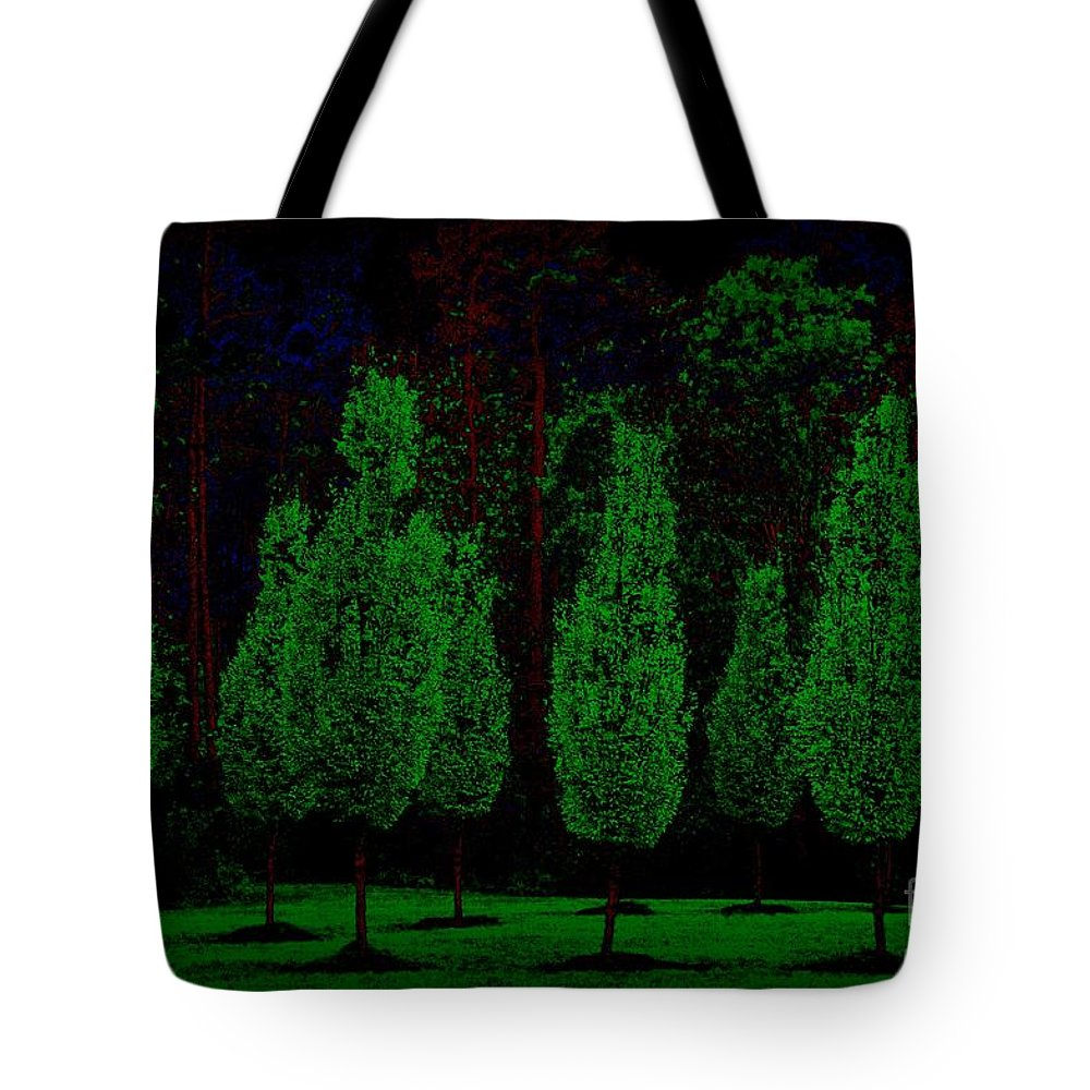 Trees Tote Bag featuring the photograph Red Bark by Donna Bentley