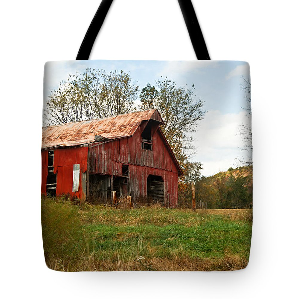 Very Tote Bag featuring the photograph Red Barn Putnum County by Douglas Barnett