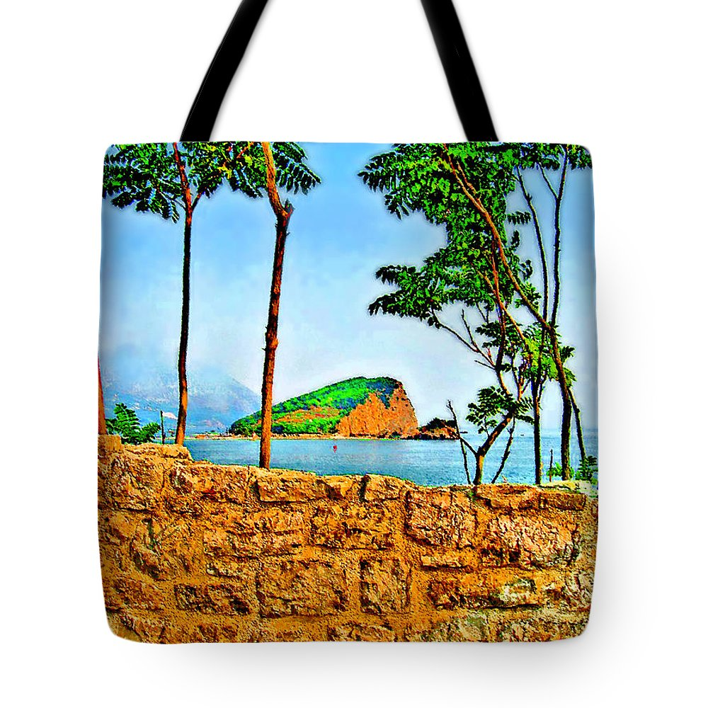Budva Tote Bag featuring the photograph Red Buoy. White Flag. by Andy Za