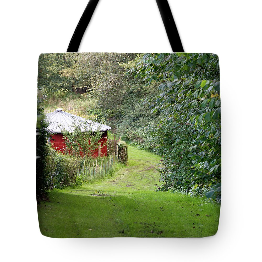 Red Tote Bag featuring the photograph Red Cistern by Bernard Barcos