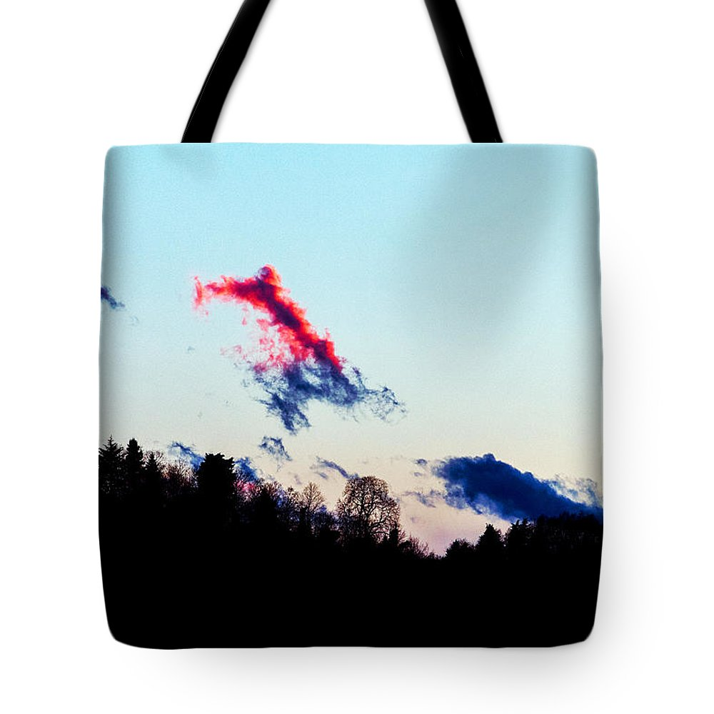 Landscape Tote Bag featuring the photograph Red Cloud by -danny Ruggiero