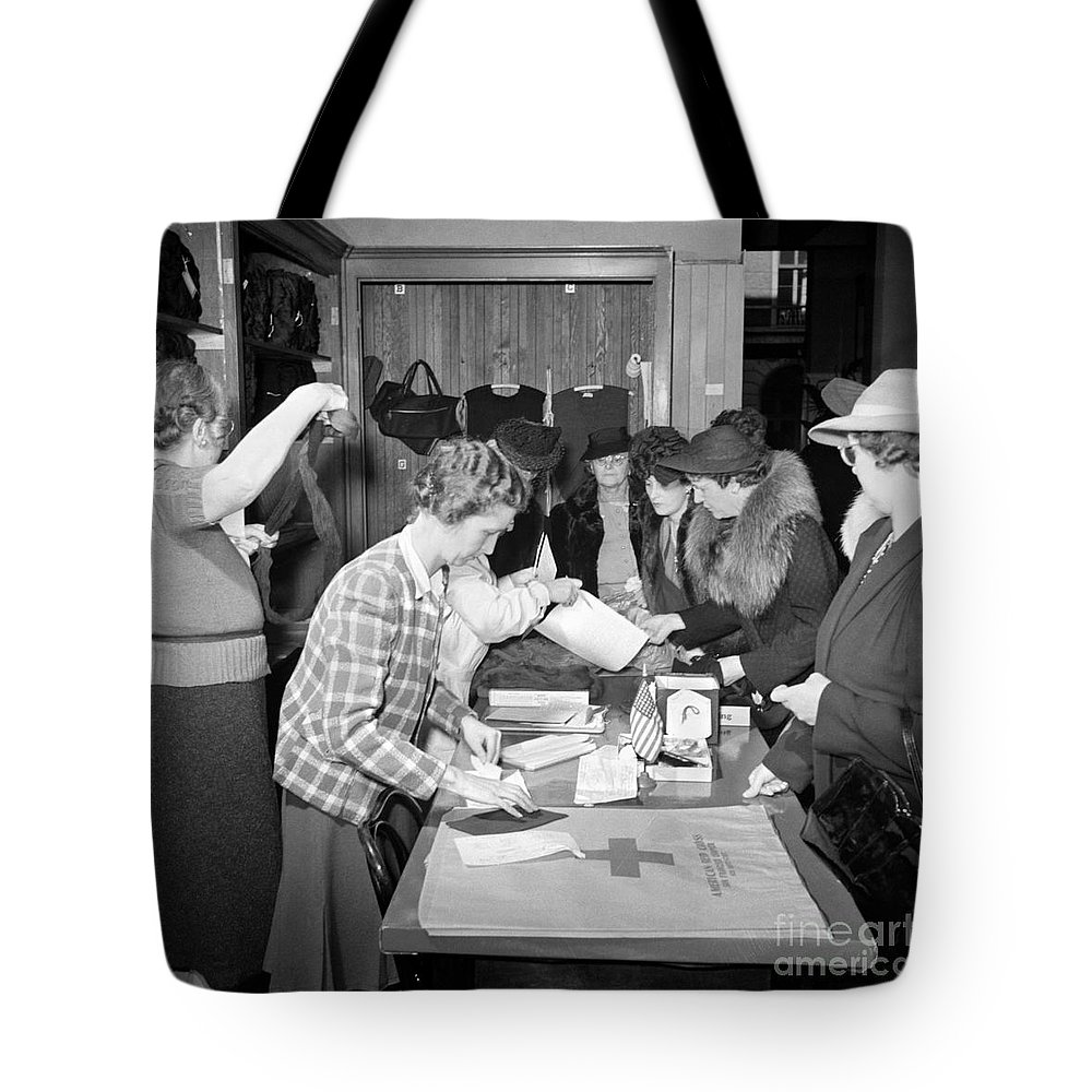 1941 Tote Bag featuring the photograph Red Cross, 1941 by Granger