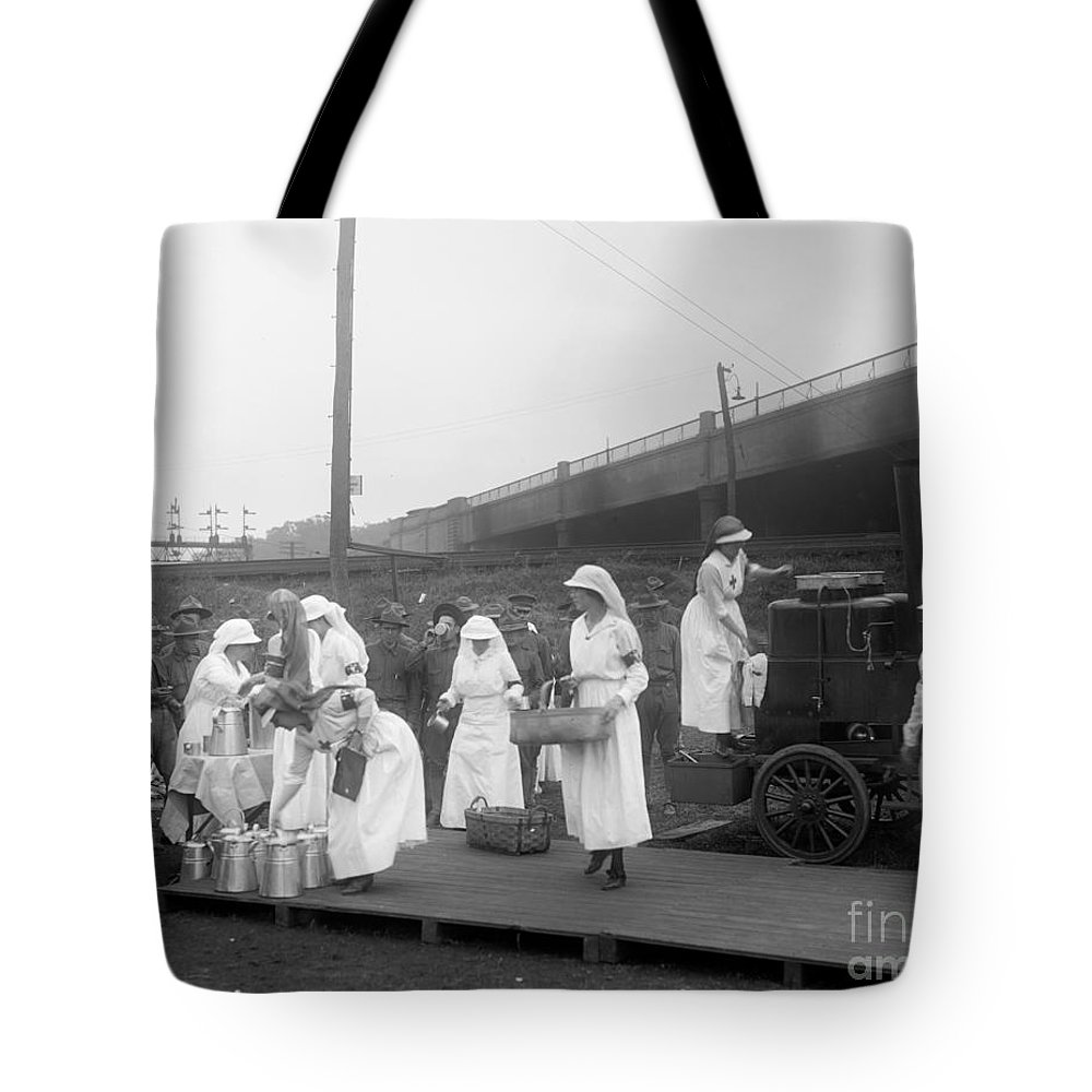 1918 Tote Bag featuring the photograph Red Cross: Canteen, C1918 by Granger