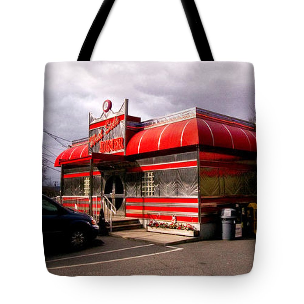 Diner Tote Bag featuring the photograph Red Diner by John Hoesly