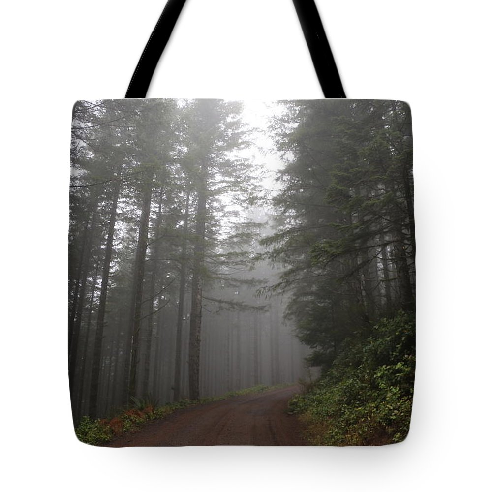 Trees Tote Bag featuring the photograph Red Dirt Road by Dani Keating