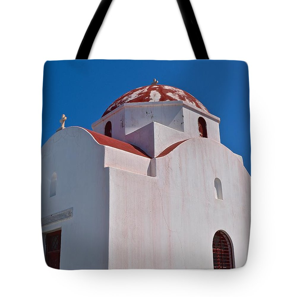 Architecture Tote Bag featuring the photograph Red Domed Church by Eric Reger