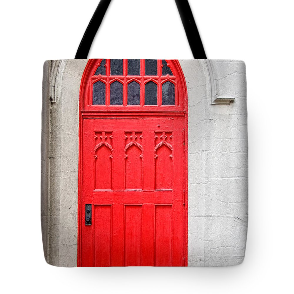 Door Tote Bag featuring the photograph Red Door by Christopher Holmes