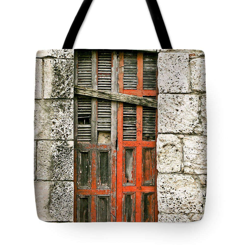 Door Tote Bag featuring the photograph Red Door by Douglas Barnett