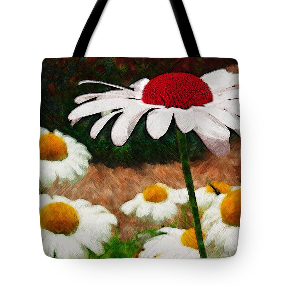Ebsq Tote Bag featuring the photograph Red Eyed Daisy by Dee Flouton