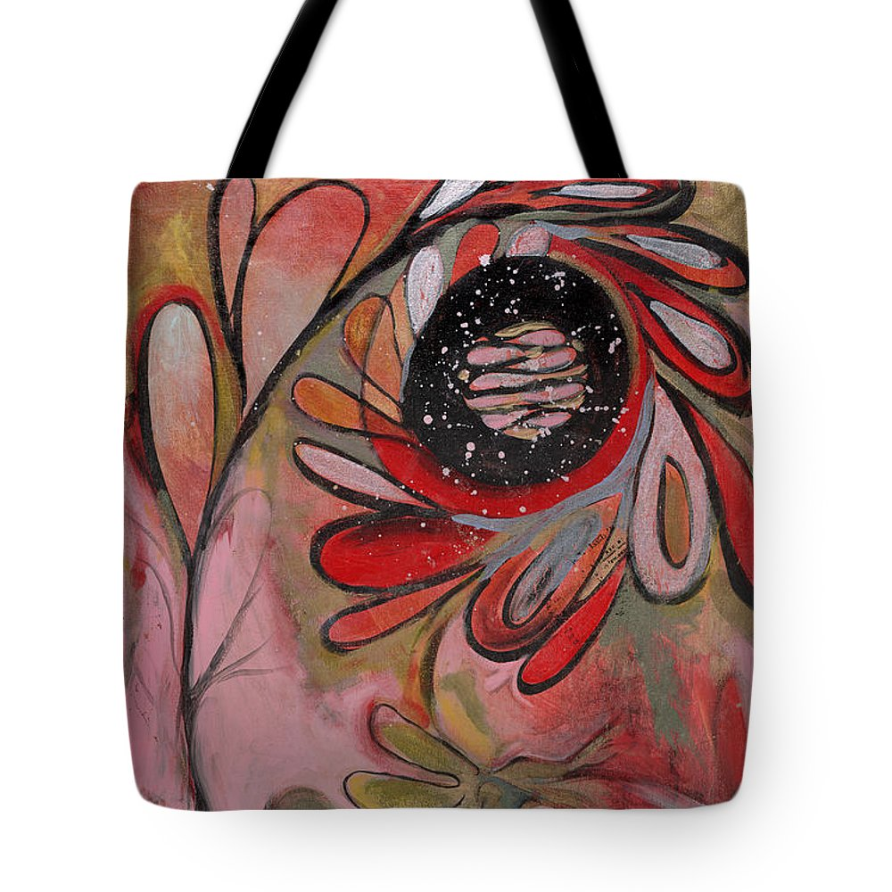 Painting Tote Bag featuring the painting Red Flower by Michelle Spiziri