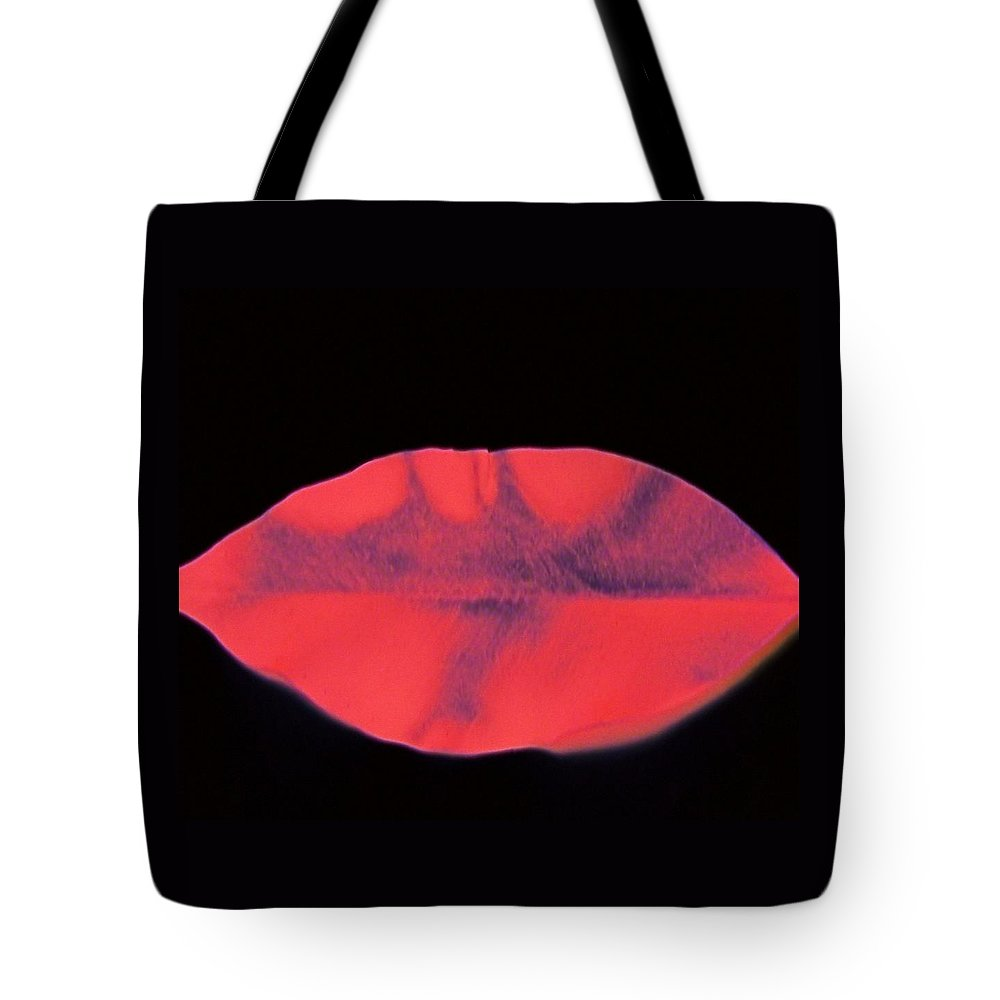 Red Tote Bag featuring the digital art Red Gloss by Kenna Westerman