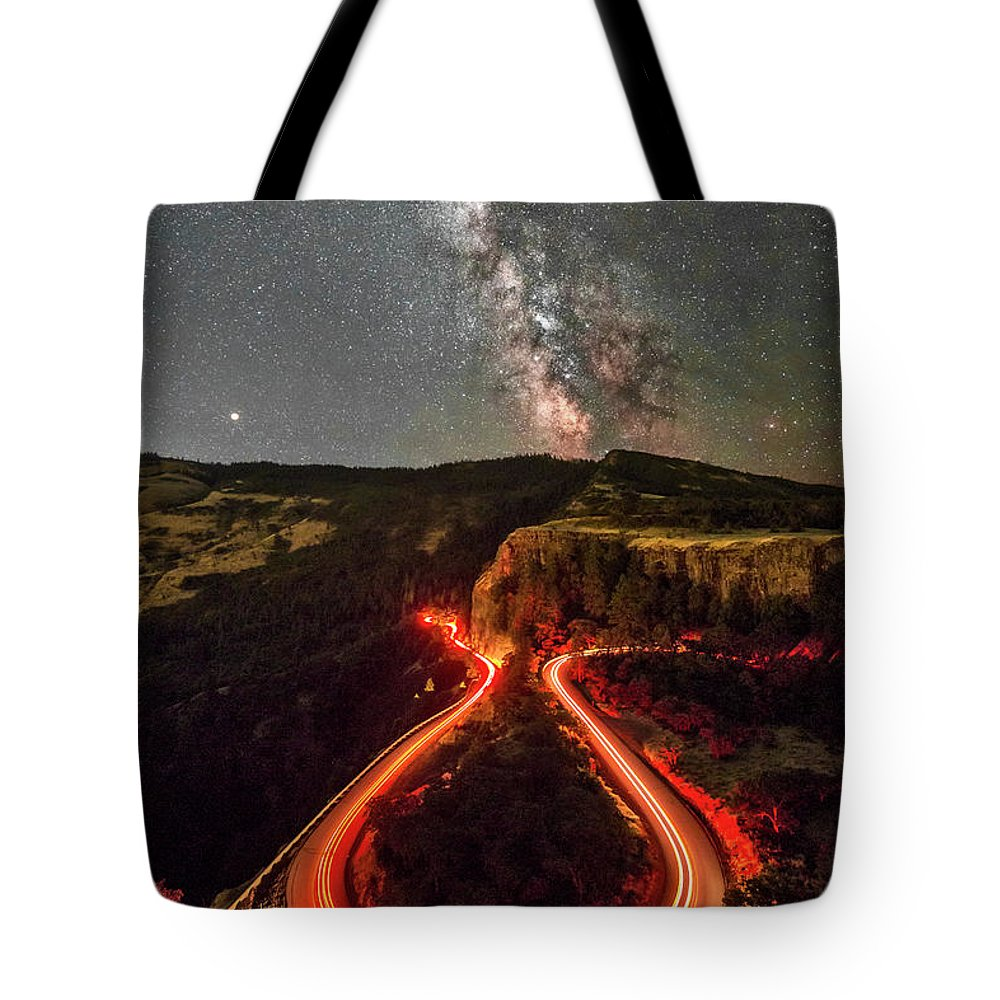Red Hot Cauldron Tote Bag featuring the photograph Red Hot Cauldron by Wes and Dotty Weber