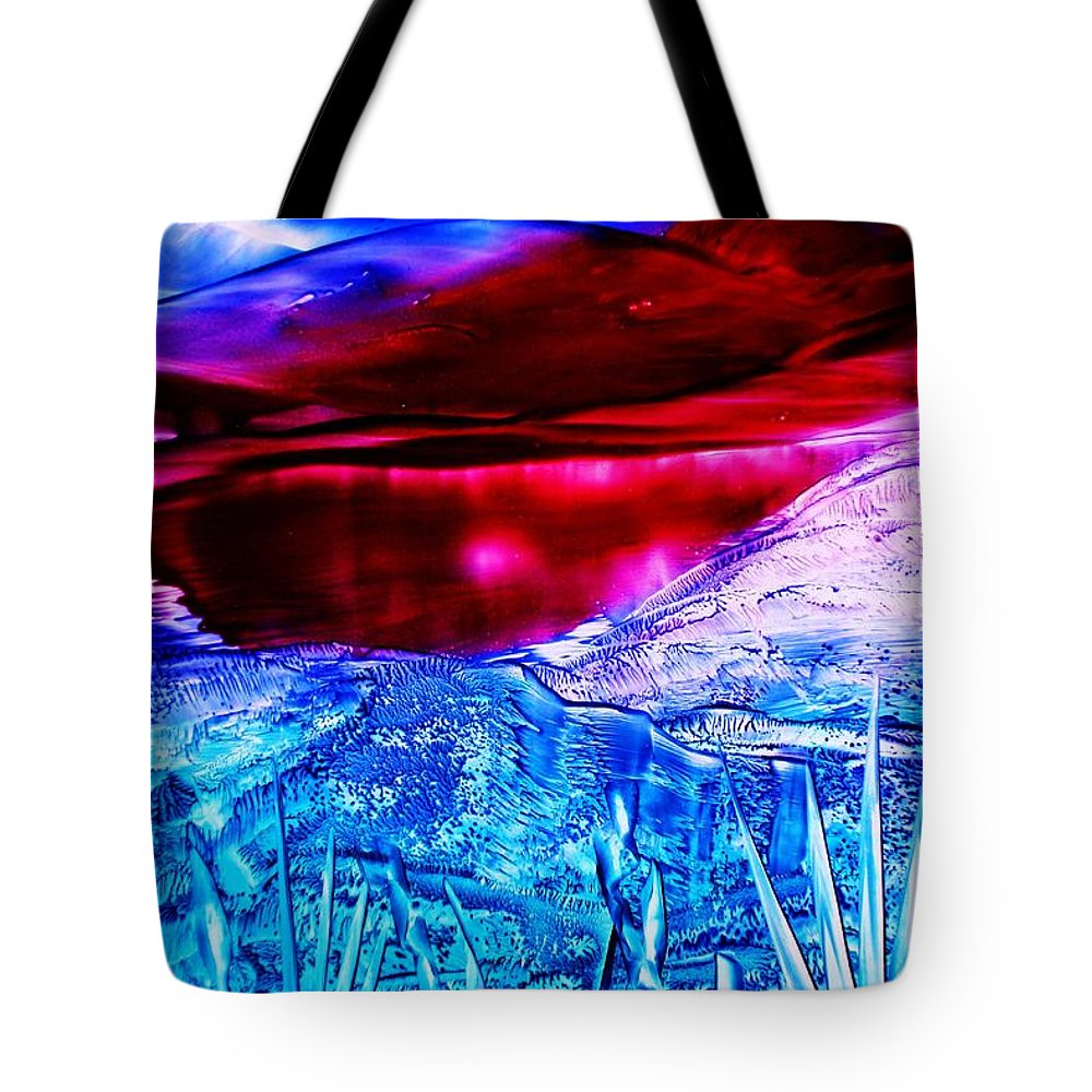 Desert Tote Bag featuring the painting Red Lake by Melinda Etzold