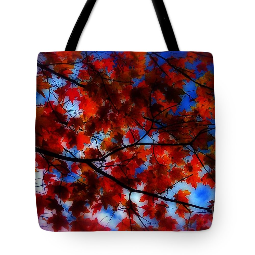 Autumn Tote Bag featuring the photograph Red Leaves by Jeff Breiman