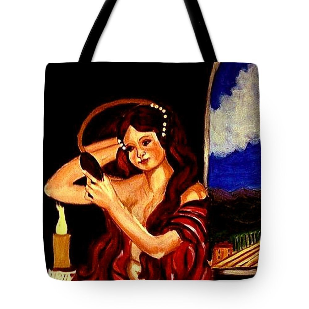 Renaissance Tote Bag featuring the painting Red Letter Day by Rusty Gladdish