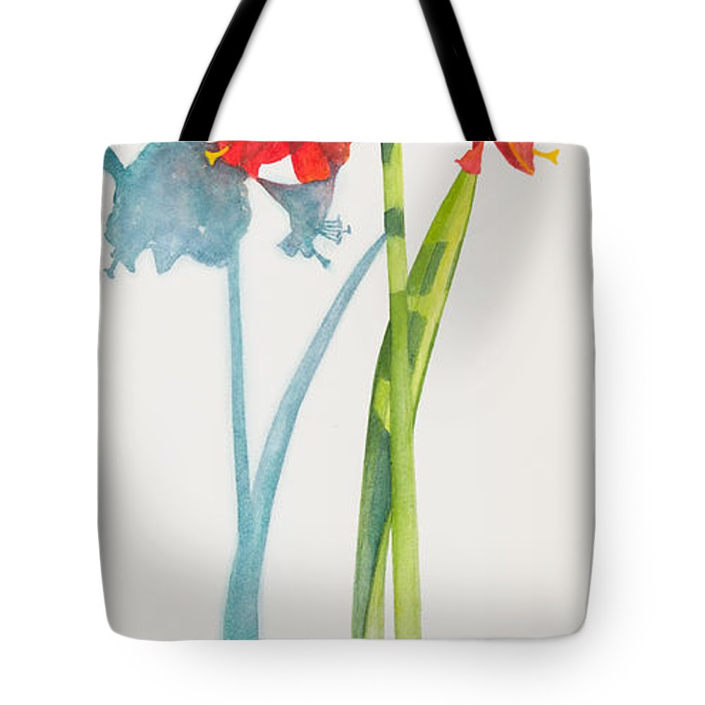 Flower Tote Bag featuring the painting Red Lion by Sandra Neumann Wilderman