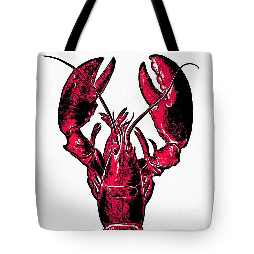 85c42f484e Lobster Tote Bag featuring the drawing Red Lobster by Edward Fielding